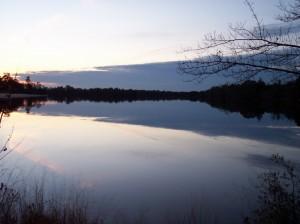 Sunset over the Atsion Lake. Photo courtesy of Scott Smith.