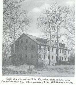 The Atsion Cotton Mill, 1977.